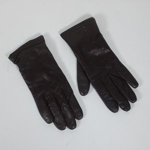 Brown lined leather gloves 7 1219